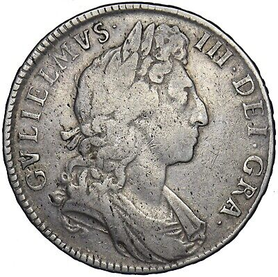 1697 Halfcrown - William Iii British Silver Coin - Nice