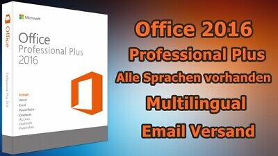 MS Microsoft Office 2016 Professional PLUS Key 1PC Für 32/64-Bit Vollversion