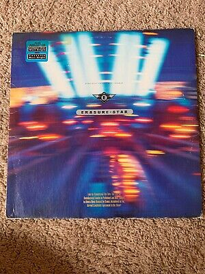 "Erasure ‎Star 12"" 1990 US Sire Records Maxi Single Electronic Synth-Pop Promo"