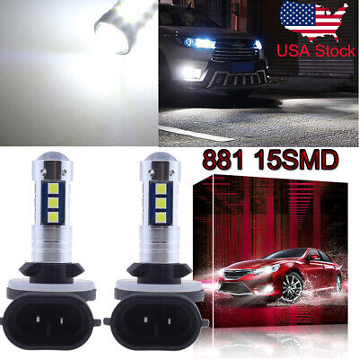 881 889 3030 15SMD LED Fog Light Conversion Kit Super Bright 6000K HID White US