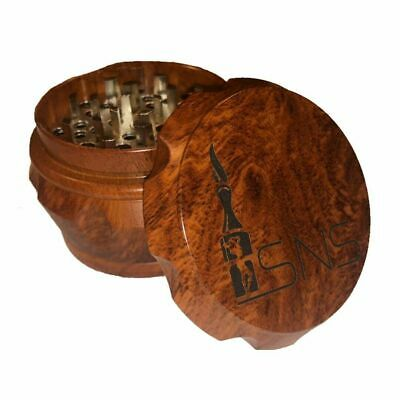 Wooden Crusher Drum 2.5 Inch 4 Piece Tobacco Spice Herb Grinder Shredder