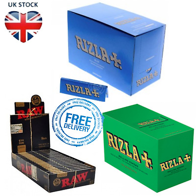 Black Raw Rizzla Blue Green Papers Medium Thin Rolling Paper Cigarette Smoking
