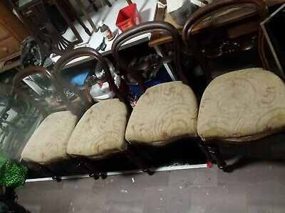4 Georgian mahogany Balloon Back chairs