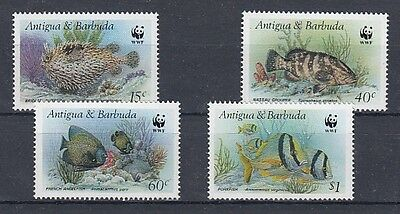 D. Fish Sealife Antigua & Barbuda 1010 - 13 Wwf (MNH)