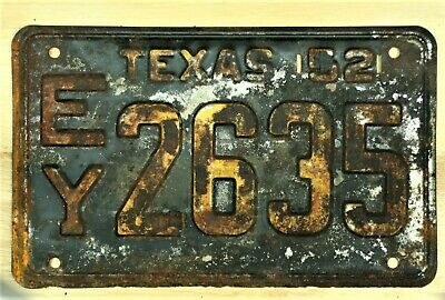 1952 Texas Ey 2635 License Plate Auto Car Vehicle Tag Item #1934