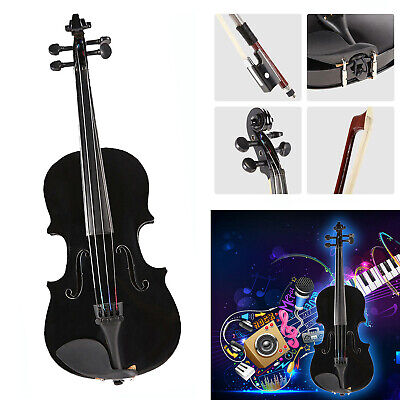 1/8 Natural Acoustic Violin Fiddle w/ Case Bow Rosin Beginner Musical Instrument
