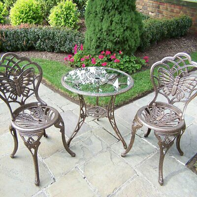 Oakland Living Butterfly Bistro Set