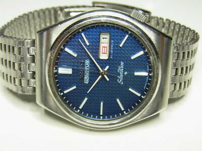 Seiko Silver Wave 6306 Japan Models 21Jewels Automatic Mens Watch Day & Date