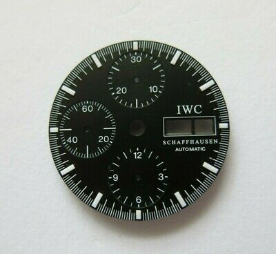 IWC 1980s -1990s Vintage Automatic Day Date Val 7750 Chronograph Mens Watch Dial