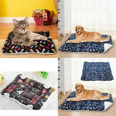 Pet Washable Blanket Dog Cat Beds Cushion Mattress Kennel Home Soft Warm Mat AU