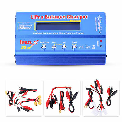 IMAX B6 RC 80W Balance Charger LCD for Lipo NiMH NiCd Multi Battery +Adapter#GZD
