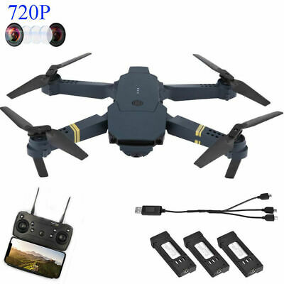 Drone X Pro Foldable Quadcopter WIFI FPV 720P HD Camera 3 Extra Batteries #GD