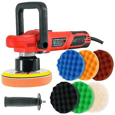 "6"" Variable Speed Random Orbit Dual-Action Polisher, 6 Pad Buffing Polishing Kit"
