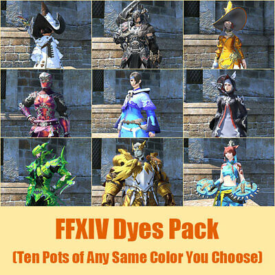 FFXIV Dyes Pack (Ten Pots of Any Same Color You Choose) | FINAL FANTASY XIV