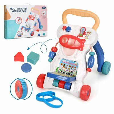 Baby Walker First Step Push Along Bouncer Activity Musical Toys Cute Xmas Gifts
