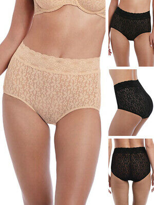 f114150109a3 Wacoal Halo Lace High Rise Full Brief 870405 Stretch Lace Knickers Sexy  Lingerie