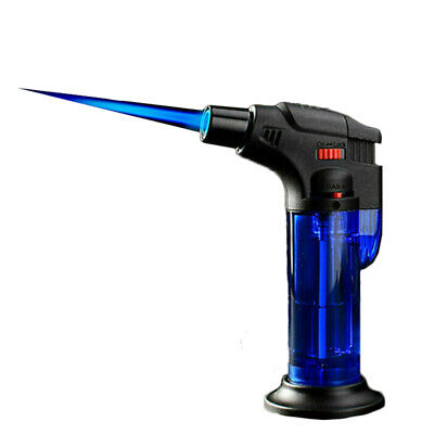 Windproof Refillable Lighter Butane Inflatable Torch Fuel Jet Flame Outdoors