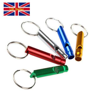 Colourful Metal Sports Whistle Loud Football Teacher Referee Keychain Keyring