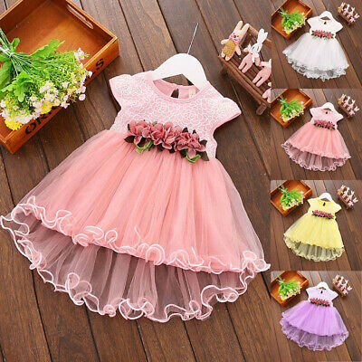 Summer Toddler Baby Kids Girl Princess Pageant Birthday Party Wedding Tutu Dress