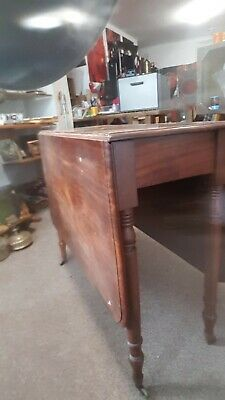 Antique Mahogany Gate Wing Table