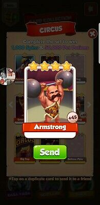 Coin master cards Armstrong 5x Pack
