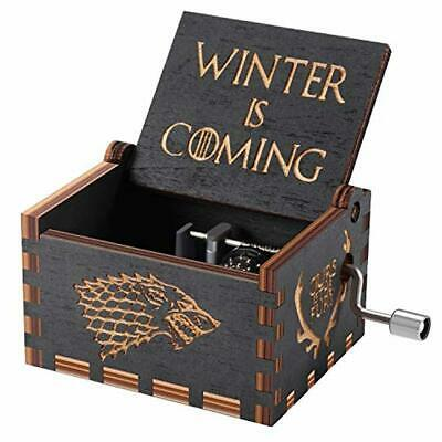 Game of Thrones Wood Muisc Box,Hand Crank Antique Carved Wooden Musical Boxes