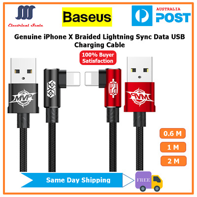 【Baseus】Genuine Elbow iPhone X  Lightning Sync Data USB Charging Cable