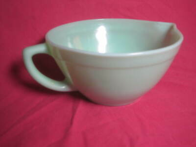 Fire King Jadeite Green Batter Mixing Bowl Banded Spout Handle pitcher Milkglass
