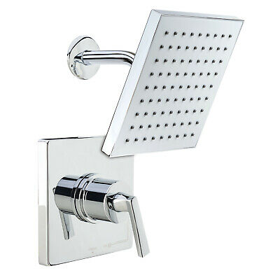 Miseno MS-650625-S Chrome Elysa Shower Trim Package with Single Function Rain