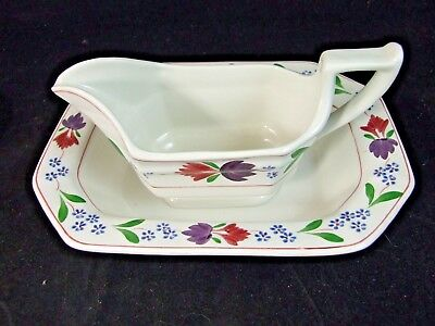 SET OF Adams OLD COLONIAL Gravy Boat & Vegetable Bowl ENGLISH IRONSTONE 2 PCS!