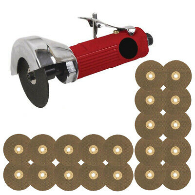 "Voche 3"" Air Cut Off Tool Grinder Cutter Tools + 20 Cutting Discs - Red"
