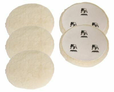 Mirka Polarshine 7990080111 Hook & Loop Lambs wool Polishing Pad 77mm 5 Pack