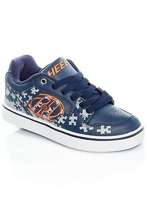 Heelys Navy-Grey-Orange Motion Plus Kids One Wheel Shoe