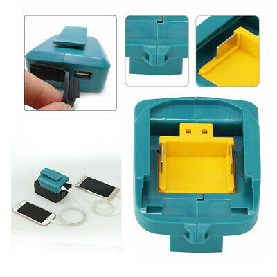 2 USB Port Charger Adapter Li-ion Battery For Makita BL1830/1430 Mobile Phone