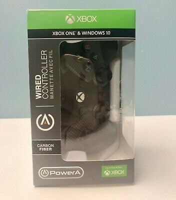 Carbon Fiber PowerA Wired Controller For XBOX one & Windows 10