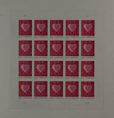 Us Scott 4847 Pane Of 20 Love Stamps Forever Mnh