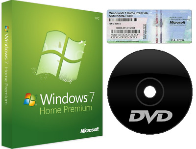 Microsoft Windows 7 Home Premium DVD CoA Lizenzaufkleber 32Bit x86 Deutsch