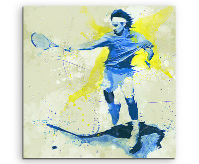 Tennis IV 60x60cm SPORTBILDER Paul Sinus Art Splash Art Wandbild Aquarell Art