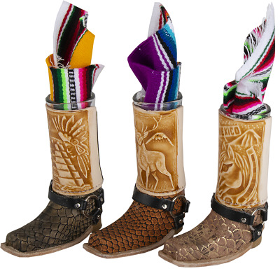 Mexican boot tequila shot glasses
