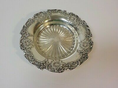 Antique Whiting Sterling Silver Wine Bottle Coaster / Dish, 145 grams