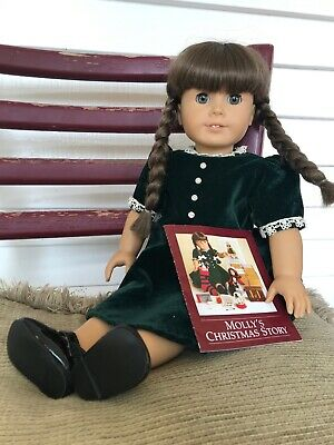 2bf9abf52 American Girl Doll Molly's Christmas Story Dress, Green Velvet with Booklet