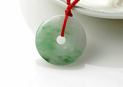 Green Jade Safety buckle Amulet Pendant