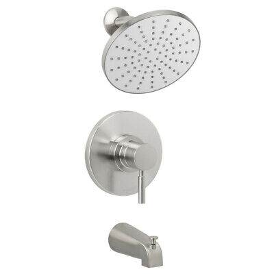 Miseno MTS-550425E-S Nickel Mia Tub and Shower Trim Package with Single Function