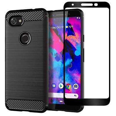Google Pixel 3a 3a XL Pixel 3 XL Case Cover, Shockproof Brushed Flexible Silicon