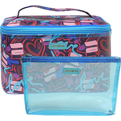 Samsonite- Leather Travel Accessories Graffiti Pop 2 Toiletry Kit NEW