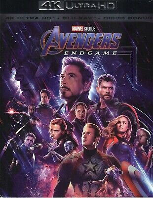 Avengers. Endgame 4K Ultra HD (2019) 3 Blu Ray + bonus disc