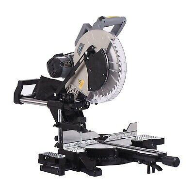 "SwitZer Mitre Saw 12"" Compound Sliding 2000W Double Bevel Cut with Laser Blade"