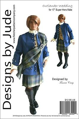 Casual Male Doll Clothes Sewing Pattern 17 Super Heros /& Jacob Black Tonner