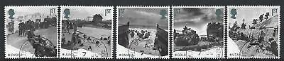 GREAT BRITAIN 2019 75th ANNIVERSARY OF D-DAY ANNIVERSARY SET 5 FINE USED