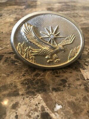 Vintage Gold-Plated Eagle Belt Buckle